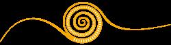 Spirale - Logo der Montessori Schule Peißenberg orange