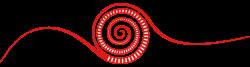 Spirale - Logo der Montessori Schule Peißenberg rot