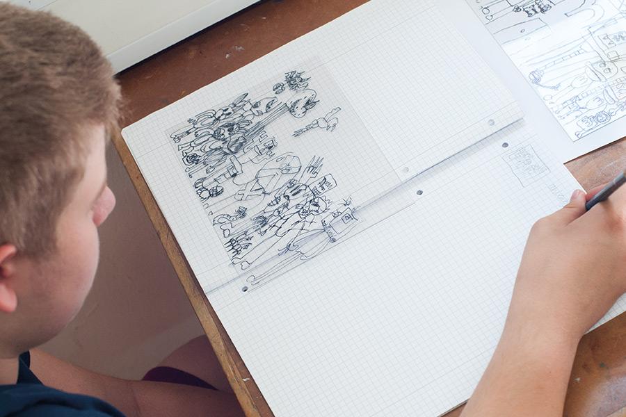 Vorlagen gestalten - Schul-Projekt Druckwerkstatt