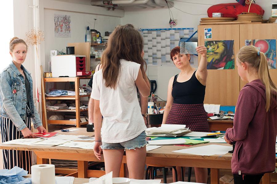 Ein Auge für Kunst - Schulprojekt Druckwerkstatt